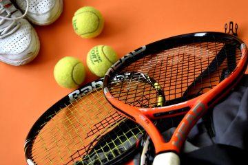 tennis raquets and tennis balls